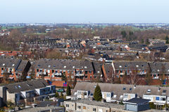 View over suburb in the Netherlands Royalty Free Stock Photography