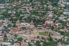 View over the Svetitskhoveli Cathedral from a hilltop in Mtskhet Stock Image