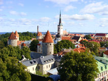 A view over Tallinn, Estonia. A panoramic view over the Old Town of Estonia's capital city, Tallinn Photo taken: September 1, 2008 Stock Photography