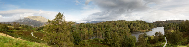 View over Tarn Hows in English Lake District Stock Images