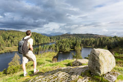 View over Tarn Hows in English Lake District Stock Photos