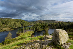 View over Tarn Hows in English Lake District Royalty Free Stock Photos