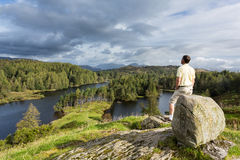 View over Tarn Hows in English Lake District Stock Photo