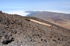 View over Tenerife Island Royalty Free Stock Photography