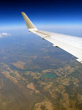 View over Texas. The view out the window of the plane as we flew from Mexico to Nova Scotia Royalty Free Stock Images
