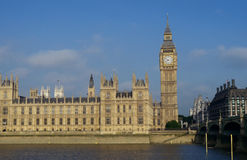 View over the thames to houses of parliament,london Royalty Free Stock Image