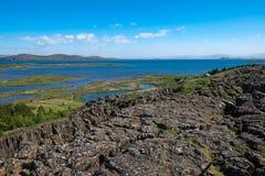 View over Thingvellir National park Stock Photo