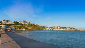 View over Torbay towards Torquay Harbour stock photography