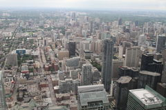 View over Toronto from the CN Tower. Amazing cityscape shot of Toronto, from the CN Tower Royalty Free Stock Photography