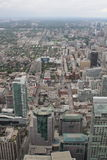 View over Toronto from the CN Tower. Amazing cityscape shot of Toronto, from the CN Tower Royalty Free Stock Photos