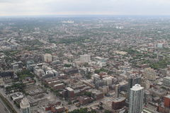 View over Toronto from the CN Tower. Amazing cityscape shot of Toronto, from the CN Tower Stock Images