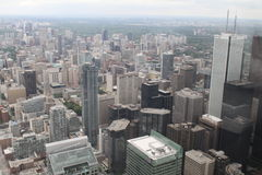 View over Toronto from the CN Tower. Amazing cityscape shot of Toronto, from the CN Tower Royalty Free Stock Image