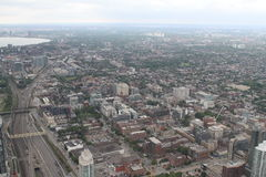 View over Toronto from the CN Tower. Amazing cityscape shot of Toronto, from the CN Tower Stock Photography