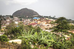 View over the town of Amedzofe, Volta Region, Ghana Stock Photography