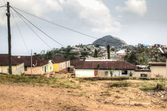 View over the town of Amedzofe, Volta Region, Ghana Royalty Free Stock Image