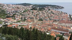 View over town of Hvar Croatia from Spanjola Fortress Stock Image