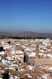 View over town rooftops, Antequera, Spain. Royalty Free Stock Photos
