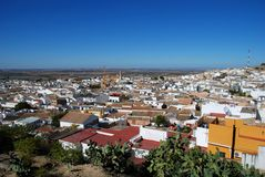 View over town rooftops, Osuna, Spain. View over the town rooftops, Osuna, Seville Province, Andalusia, Spain, Western Europe Royalty Free Stock Images