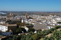 View over town rooftops, Osuna, Spain. View over the town rooftops, Osuna, Seville Province, Andalusia, Spain, Western Europe Stock Photos