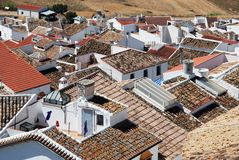 Town rooftops, Olvera, Andalusia. Royalty Free Stock Photo