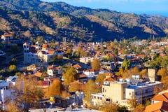 A view over the traditional mountain village of Kakopetria. Nico Stock Photos