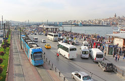View over traffic in Istanbul, Turkey Stock Photo