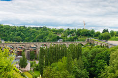View over train bridge and surrounding area Royalty Free Stock Images