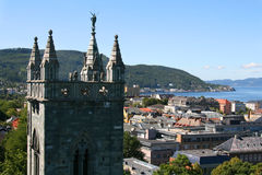 View over Trondhjem in Norway Stock Image