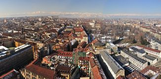 View over Turin, Italy. Turin is a major city as well as a business and cultural centre in northern Italy, capital of the Piedmont  region, located mainly on the Royalty Free Stock Photography