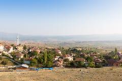 View over the Turkish village Turkmen next to Oymaagac stock photos