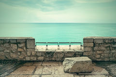 View over turquoise sea and clouds Stock Photography