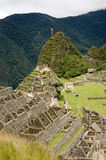 View over the upper part of the Machu Picchu ruins Royalty Free Stock Photos