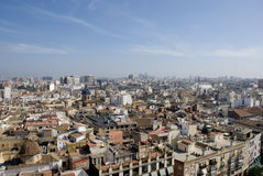 View over valencia. View over the city of valencia, spain royalty free stock image