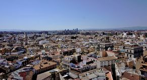 View over Valencia from the cathedral tower royalty free stock photos