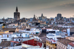 View over Valencia, Spain. View over the city of Valencia, Spain Stock Images