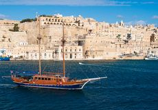 View over Valletta, the capital of Malta Stock Photography