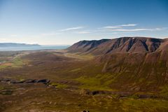 View over valley. View over a beautiful valley in Iceland Royalty Free Stock Photography