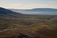 View over valley. View over a beautiful valley in Iceland Stock Photos