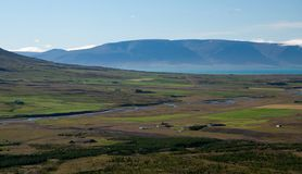 View over valley. View over beautiful valley in Iceland, summertime Royalty Free Stock Photos