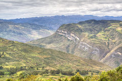 View over the valley of Chachapoyas Stock Photography