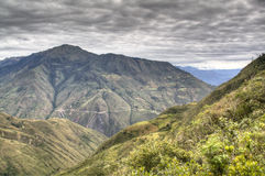 View over the valley of Chachapoyas Royalty Free Stock Photography