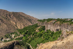 View over the valley in Garni, Armenia Stock Photography