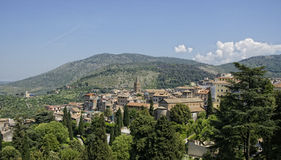 View over the valley of Villa D'Este Stock Photo