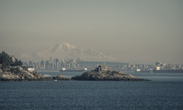 View over vancouver an mt baker Stock Image