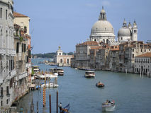 View over venice. View over the grande canal in venice, italy Royalty Free Stock Photos