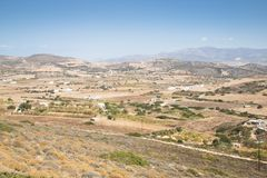 View over Antiparos island, Greece. View over the very scenic island of Antiparos, one of the Cyclade islands in Greece stock photos