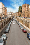 A view over Via degli Annibaldi in Rome city centre Stock Photography