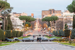 View over Viale Europa, EUR district, Rome, Italy Royalty Free Stock Image