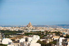 View over Victoria, Gozo island, Malta. View over Victoria, Rabat, biggest city of Gozo island, Malta Royalty Free Stock Photo