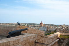 View over Victoria, Gozo island, Malta. View over Victoria, Rabat, biggest city of Gozo island, Malta Royalty Free Stock Photos